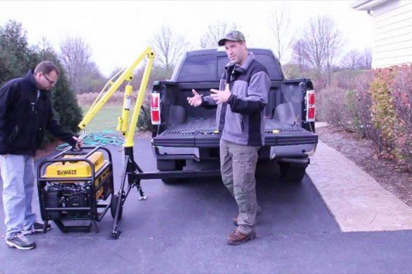 MaxxTow Portable Hitch Mounted Pickup Truck Crane